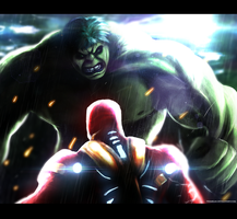 Hulk vs Ironman by Tremblax