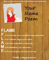 TSS OC - your name poem 3 by moonofheaven1