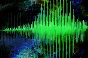Audio Waveform Art 4 by HaloAskewEnt
