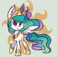 Chibi!Princess Celestia by CrystaltheTimeLady