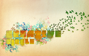 watercolor typography by creativecircle