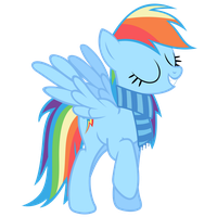 Rainbow Dash Vector - Of Course I'm The Best Pony! by Anxet