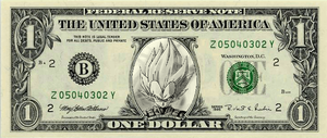 vegeta on one dollar by DrCropes