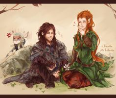 The Hobbit: He's quite tall for a dwarf. by Fiveonthe