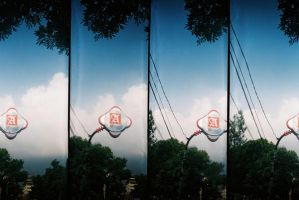 A and the sky by ocit