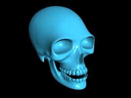 Human Skull Modeling Excersise by casteeld
