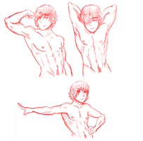 Male Anatomy Practice 1 by CheeseTitans