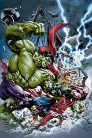 THOR vs HULK by Summerset