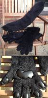 Black Werewolf Tail and Paws by NecoStudios