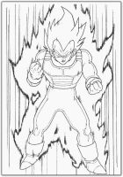 ssj vegeta noncolored by bonecrusher87