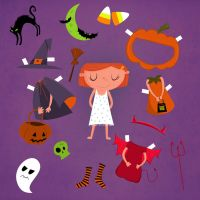 Halloween paper doll by Christine-E