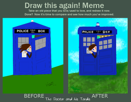 Before and After: The Doctor and his Tardis by kuranszo
