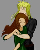 Jareth and Sarah by sintar