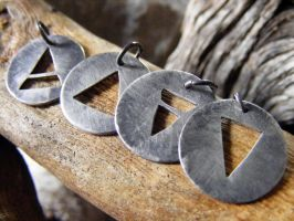 Element Necklaces by MoonLitCreations