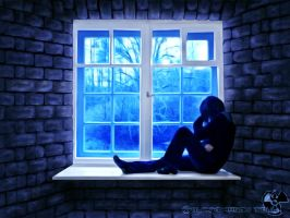 sitting by the window,,, by blackdragonssoul