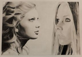 Taylor Swift and Avril Lavigne by bebaavril95
