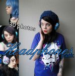 Headphones pack by Dingelientje-stock