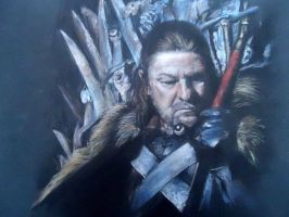 Drawing of the Eddard Stark by blackblacksea