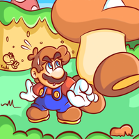 SAI Practice - Little Mario and Big Goomba by JamesmanTheRegenold
