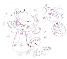Miss Kitty and flying beeping Fuzzball thank y by Kittychan2005