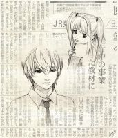 Light Yagami and Misa Amane by lingy