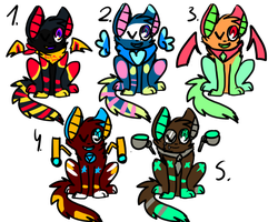 Crazy adoptables by Awkward-Sandwich