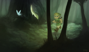 lost in the woods by foxery