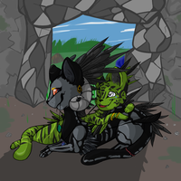 Commission: Cave Cuddles by misa-acar