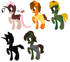 Stephen King Inspired Pony-Adoptables #2 (SALE!!) by SalkiNeoDucky