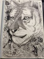 tiger - doodle art by mr-Vy