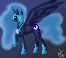 Nightmare Moon by yorewolfdragon67