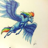Rainbow Dash MLP by cococream45