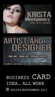 Personal Business Card Idea by Anesthetic-X