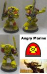 Warhammer Models: Angry Marine by armoured-lemming