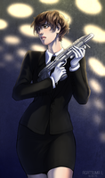 Miranda with short hair // MIB crossover by H8ARO