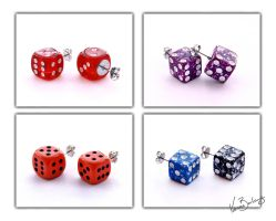 Earrings 13 - Dice by vonniesau