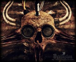 Baphomet-skull by D3vilusion