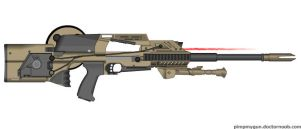 FN P90 Squad Automatic MG Concept by Direrain
