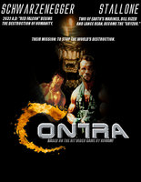Contra Movie Poster (Finished) by SecretAgentJonathon