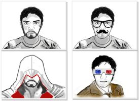 Self Portraits (All 4) by indy7738