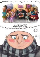 Despicable me : Awkward... by k-cruz-c-pura