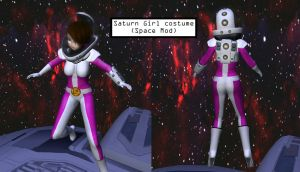 (SL) Daisy Scaphandre's Fashion Show: Saturn Girl by Dr-Scaphandre