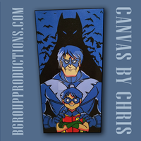 Spray Painted Nightwing Canvas by cgianelloni
