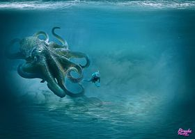 Octopus by PiranhaPourpreCrea