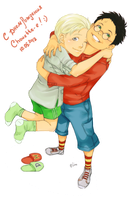 Drarry hug by LinART