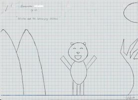 Winston the bear..in equations by DeathSlayus09