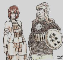 Amazons with their armors by Shabazik