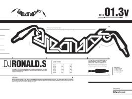 DJ Ronald S logotype by R2works