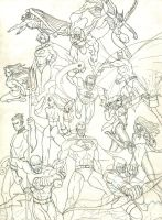 Justice League - pencils by baybee-snayx