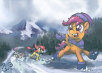 Winter Racing Funtimes by FlavinBagel